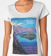 Vintage Crater Lake Oregon Travel Women's Premium T-Shirt