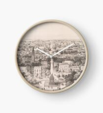 Vintage Bildkarte von Savannah Georgia (1856) Uhr