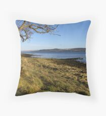 Looking south over the Beauly Firth Throw Pillow