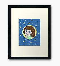 Chibi blue Framed Print