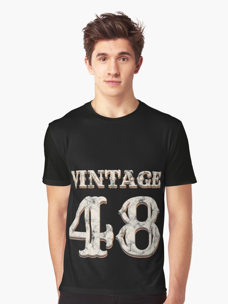 Vintage 48 Tshirt 70th Birthday Gift For 70 Year Old Graphic T Shirt By Blazesavings