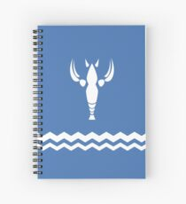 Crayfish Design Spiral Notebook