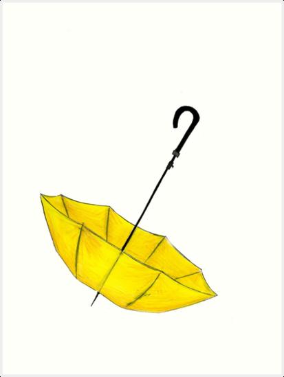 Der gelbe Regenschirm von Reilly Ballantyne