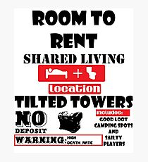 fortnight room to rent Photographic Print