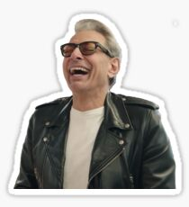 Jeff Goldblum Laughing Sticker
