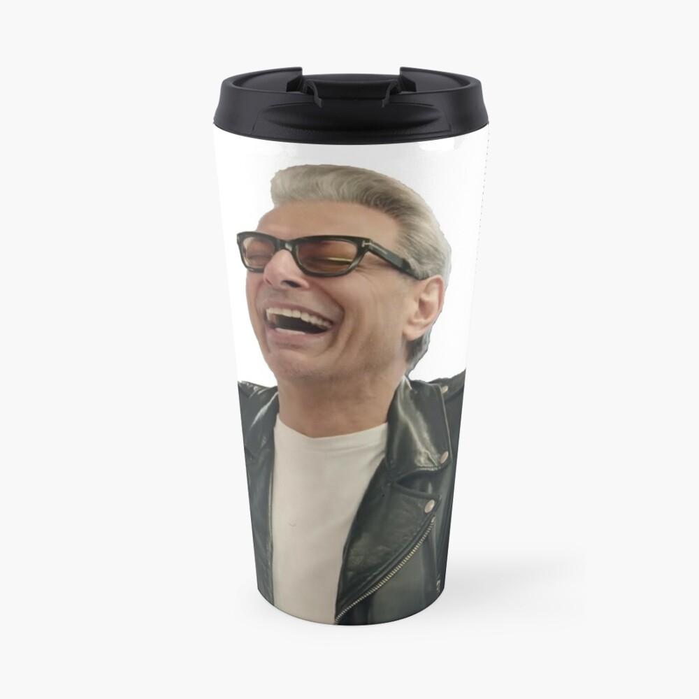 Jeff Goldblum Laughing Travel Mug