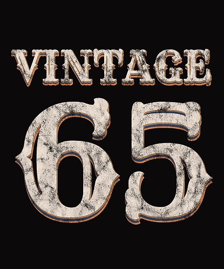 Vintage 65 Tshirt 53rd Birthday Gift For 53 Year Old