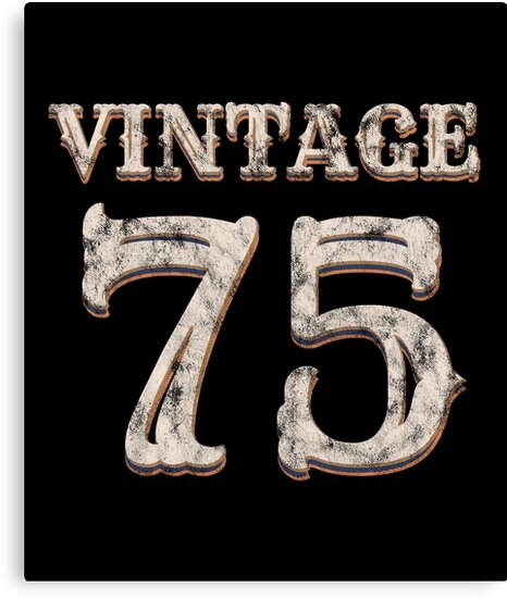 Vintage 75 Tshirt 43rd Birthday Gift For 43 Year Old By Blazesavings