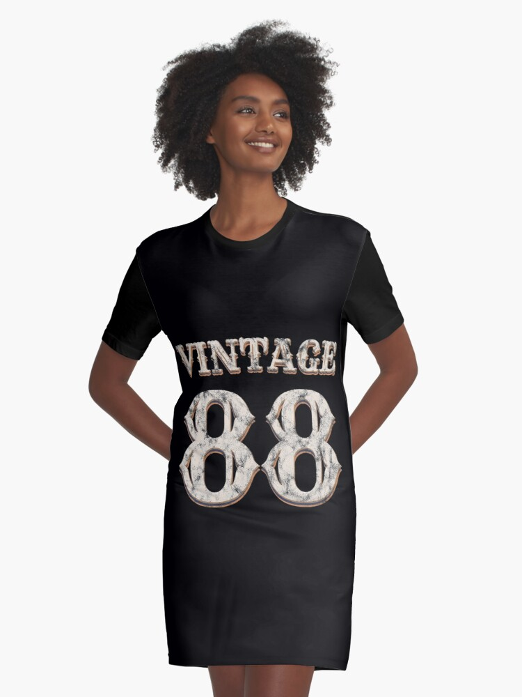 Vintage 88 Tshirt 30th Birthday Gift For 30 Year Old Graphic T Shirt Dress