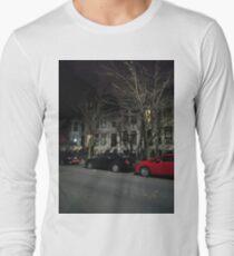 New York, Manhattan, Brooklyn, New York City, architecture, street, building, tree, car, pedestrians, day, night, nightlight, house, condominium,  Long Sleeve T-Shirt