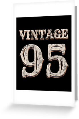 Vintage 95 Tshirt 23rd Birthday Gift For 23 Year Old By Blazesavings