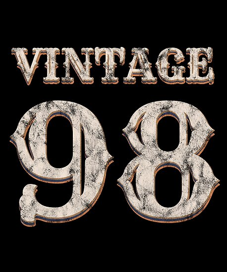 Vintage 98 Tshirt 20th Birthday Gift For 20 Year Old