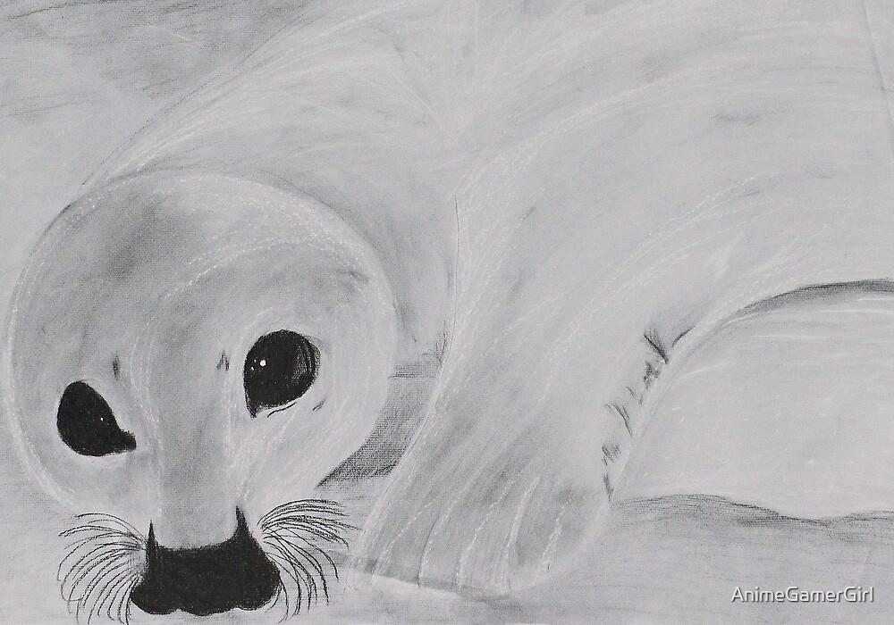 Baby Seal  by AnimeGamerGirl