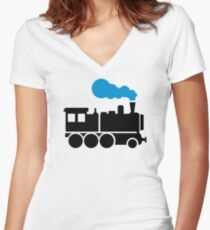 Locomotive Women's Fitted V-Neck T-Shirt