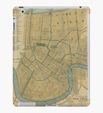 Vintage Map of New Orleans Louisiana (1893) iPad Case/Skin