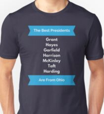 Ohio President Gift for History Buff Ulysses Grant Great Funny Historical Present for History Major Unisex T-Shirt