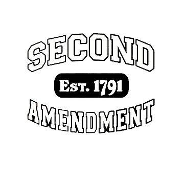 Second Amendment 2nd Gun Right Est 1791 Shirt Sticker Cases Pillows Totes Duvet by 8675309