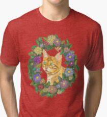 Kitten Wreath Tri-blend T-Shirt