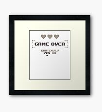 Game Over | Gamer | Gaming | Video Game Framed Print