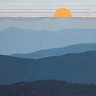 """Blue Mountain Morning"" 27 by Cindy Lou Chenard"