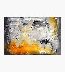 Gold Giclee Print,Gold Black Painting, Abstract Painting,Orange Black Art Print Photographic Print