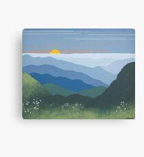 """Springtime Blue Ridge Sunset"" Canvas Print"