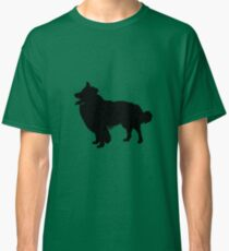 Border Collie Silhouettes, Green! Classic T-Shirt