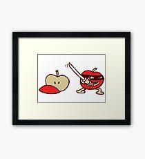 funny ninja apple  Gerahmtes Wandbild