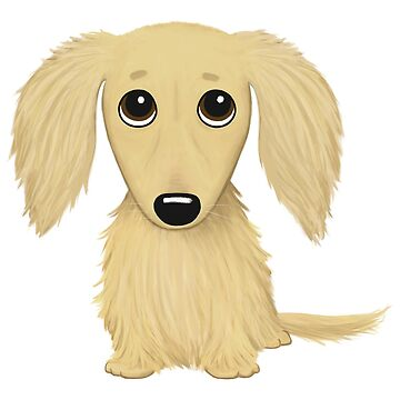 Long Haired Cream Dachshund by ShortCoffee