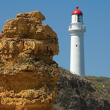 Witch Rock guarding Split Point Lighthouse at Aireys Inlet by janjuc