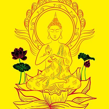 Buddha On Lotus by archys187
