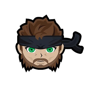 Metal Gear Solid 2 - Solid Snake Sticker by Jamieferrato19