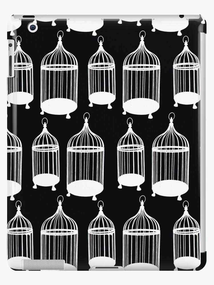 Black & White Bird Cage Pattern by MyArt23
