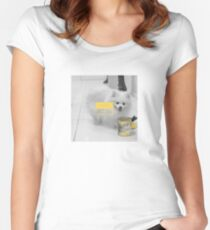 White Dog - summon him Women's Fitted Scoop T-Shirt