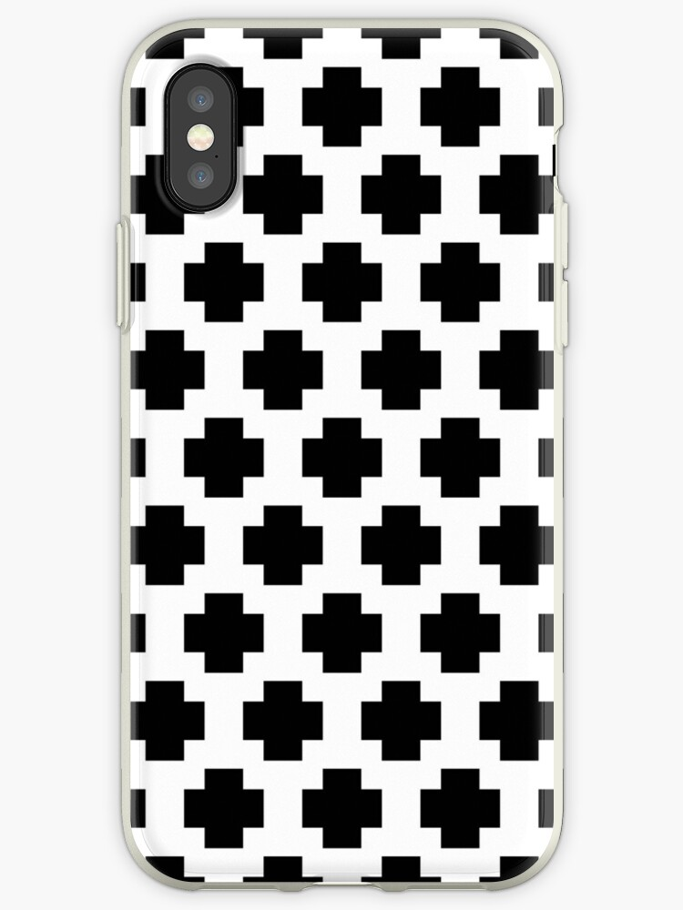 Black and White Simple Cross  by MyArt23