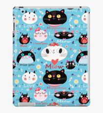 Vector seamless pattern enamored cats  iPad Case/Skin