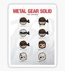 "Metal Gear Solid 1-V ""Snakes"" Poster Sticker"