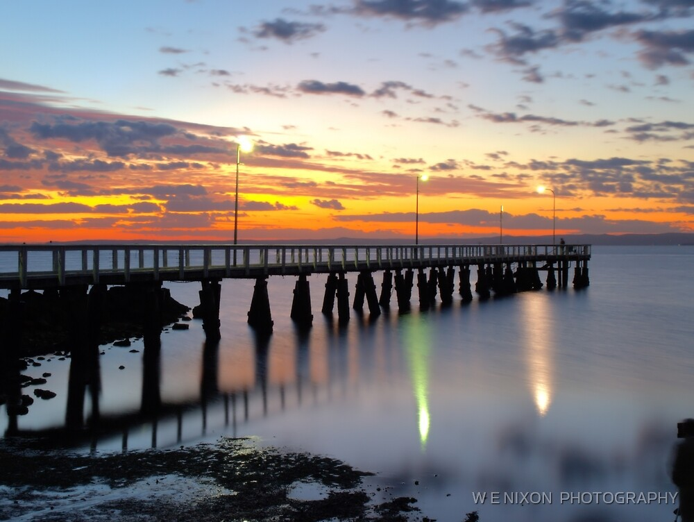 Wellington Point Jetty Sunrise by W E NIXON  PHOTOGRAPHY