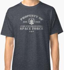 Camiseta clásica Propiedad de la Fuerza Espacial de EE. UU.