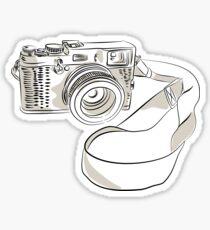 35mm SLR Film Camera Drawing Sticker