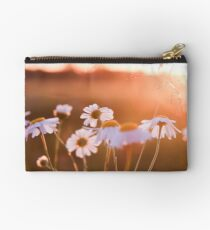 Colorful sunset with flowers Studio Pouch