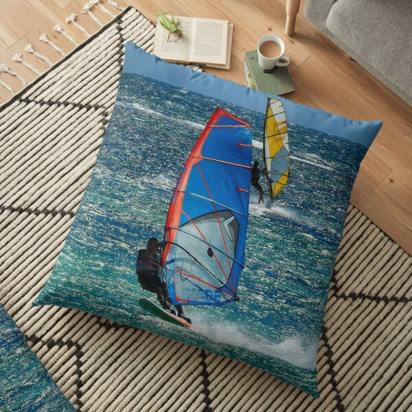 Sailboarding in Lancelin Floor Pillow