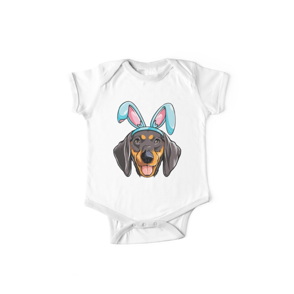 6b0031dcf Easter Bunny Dachshund T shirt Dog Boys Girl Kids Men Women
