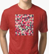 Pattern design with abstract elements Tri-blend T-Shirt