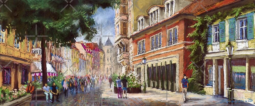 Germany Baden-Baden Lange Str by Yuriy Shevchuk