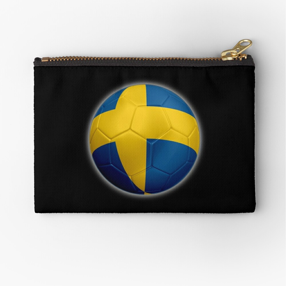 Schweden - Schwedische Flagge - Fußball oder Fußball 2 Täschchen