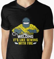 Welding - Welder welder welding welder Men's V-Neck T-Shirt