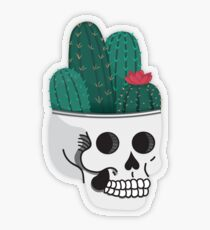 Cactus Skull Transparent Sticker