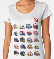 Formula 1 2018, new helmets of drivers Women's Premium T-Shirt