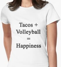 Tacos + Volleyball = Happiness  Women's Fitted T-Shirt